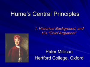 Lecture 1 - Philosophy at Hertford College