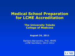 LCME Accreditation Standards