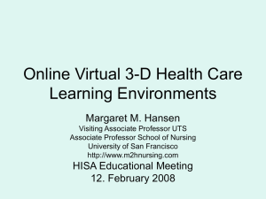Virtual Health Care Learning Environments