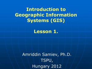 Introduction to Geographic Information Systems (GIS)