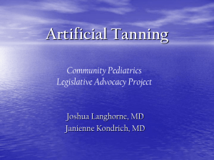 Artificial Tanning