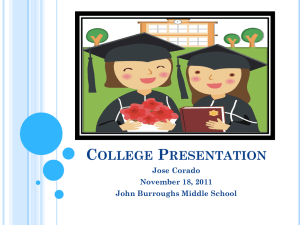 College Presentation - Burroughs Middle School
