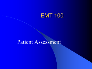 Patient Assessment Lecture Notes Page