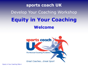 Equity in Your Coaching Welcome