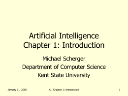 Artificial Intelligence Chapter 1 - Computer Science