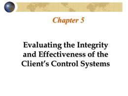 Chapter Five: Evaluating the Integrity and Effectiveness of the