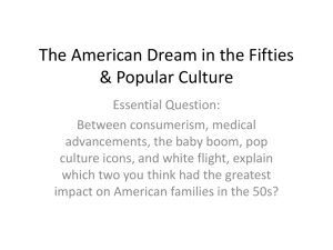 Chapter 19 Section 2: The American Dream in the Fifties