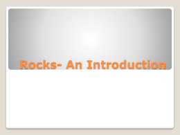 2.4 Rocks- An Introduction