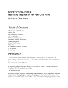 Excerpt (doc) - Food Jobs by Irena Chalmers