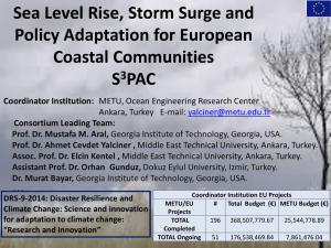 Sea Level Rise, Storm Surge and Policy Adaptation for European