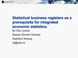 Integrated economic statistics