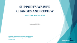 Supports Waiver Changes 02.24.16