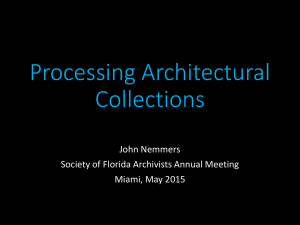 PowerPoint Presentation - Society of Florida Archivists