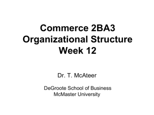 Org Structure - DeGroote School of Business