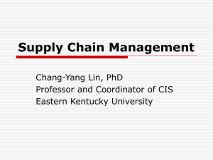 Supply Chain Management - Eastern Kentucky University