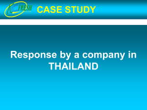 A private sector case study from Thailand