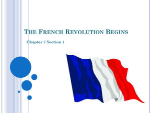 THE FRENCH REVOLUTION BEGINS Chapter 7 Section 1