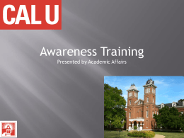 Awareness Training Presentation