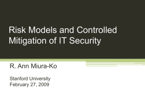 Foundations for Risk Management of IT Security