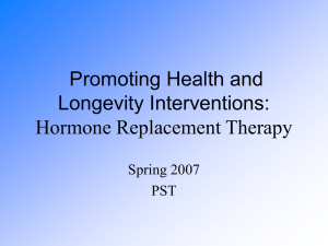 Post-Menopausal Health and HRT