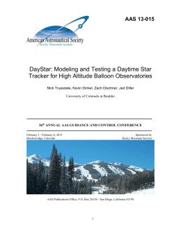 DayStar AAS Paper - DayStar Engineering