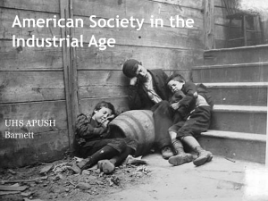 American Society in the Industrial Age