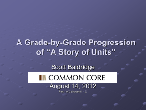 Story of Units Progressions – Day Two Presentation – Part I (Grades