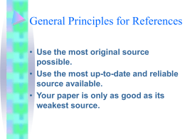 General Principles for References
