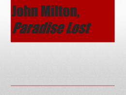 paradise lost christian theology 'paradise lost' and republican tradition from aristotle to of politics presented by republicans from aristotle to machiavelli christian theology.