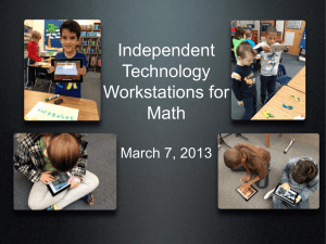 Math Workstations in PPT