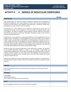 activity # 4 models of molecular compounds