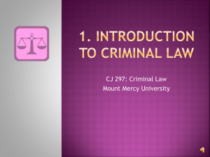 1. introduction to criminal law - Mount Mercy University Online!