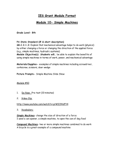 Simple Machines - Temple University Sites