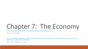 Chapter 7: The Economy