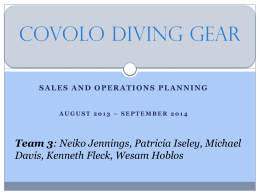 Covolo Sales and Operations Planning Case Study
