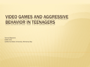 Videogames and Aggressive Behavior in Teenagers