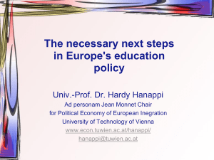 The necessary next steps in Europe's education policy