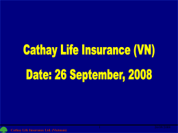 Cathay Life Insurance Ltd. (Vietnam)