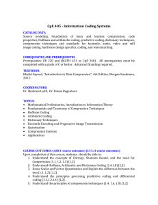 CPE405 - Information Coding Systems