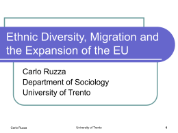 Ethnic Diversity, Migration Issues and the Expansion of the Eu