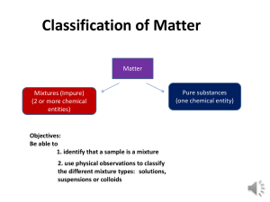 Ch1: Matter Classification
