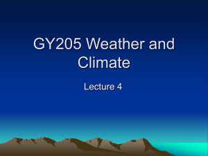 GY205 Weather and Climate - University of Mount Union