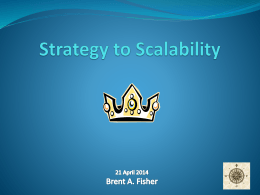 Strategy to Scalability