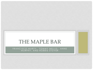 The Maple Bar