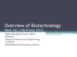 week 1_overview of biotechnology