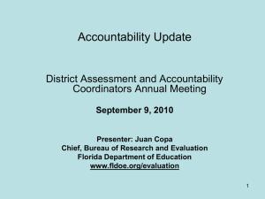2010 Accountability Update, Annual District Coordinators' Meeting