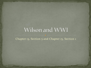 Wilson and WWI