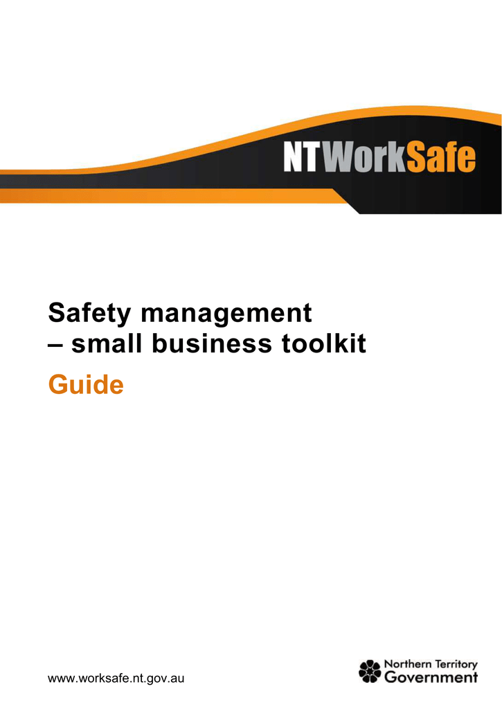 Guide To Safety Management Small Business Toolkit
