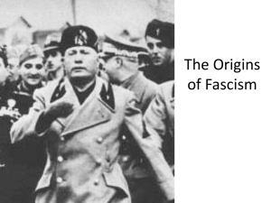 The Origins of Fascism