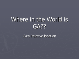 G1a PP Where in the World is GA